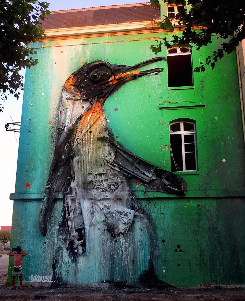 1 Street Art by Bordalo II Bordeaux, France at Ocean Climax Festival
