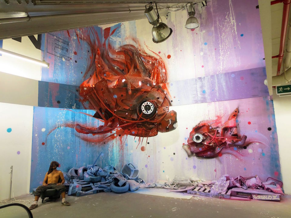 13 Street Art by Bordalo II in Lisbon, Portugal