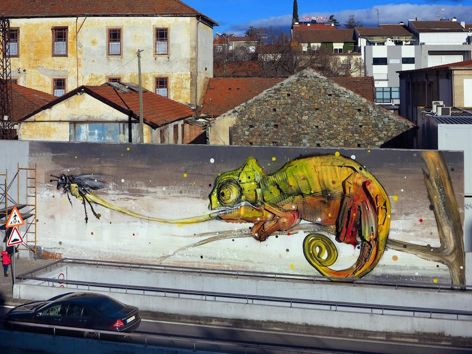 14 Street Art by Bordalo II in Braganca, Portugal