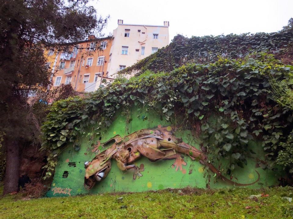 15 Street Art by Bordalo II in Lisbon, Portugal