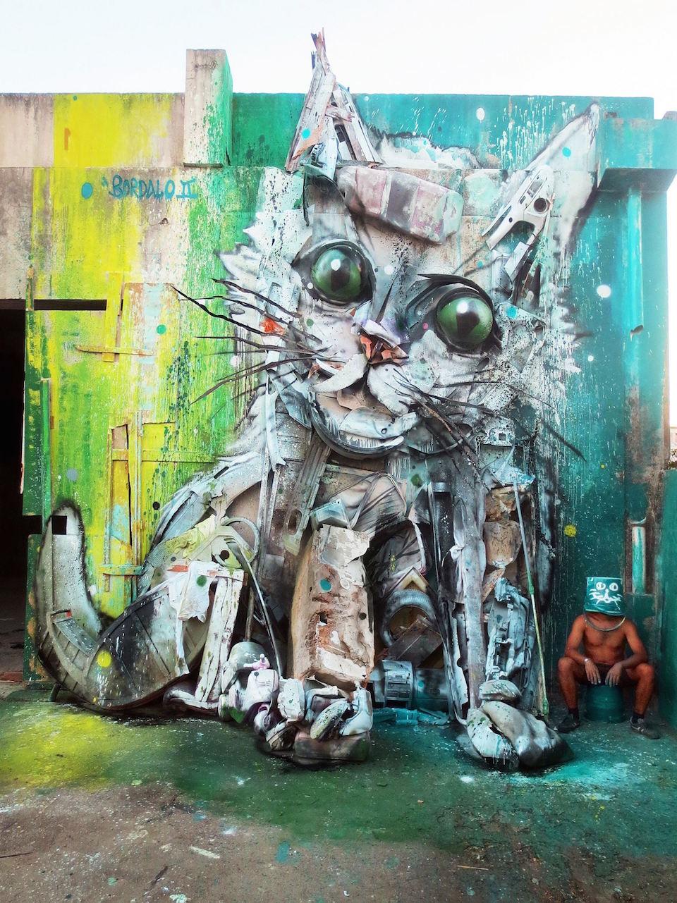 23 Street Art by Bordalo II in Lisbon, Portugal