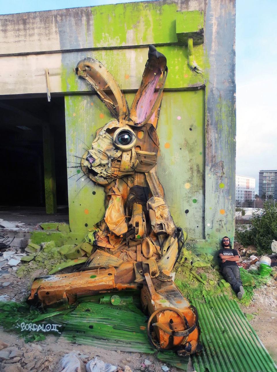 3 Street Art by Bordalo II in