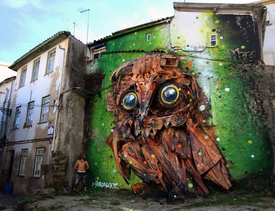 5 Street Art by Bordalo II at Wool Urban Art Festival