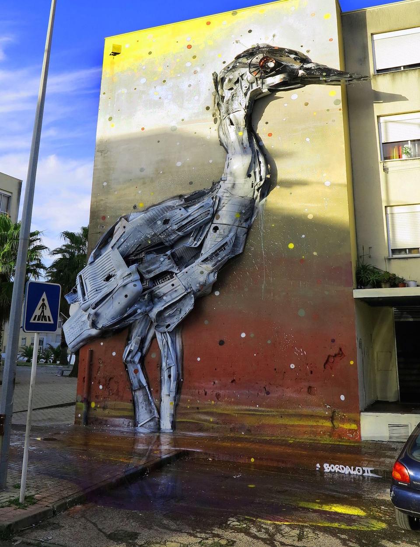 7 Street Art by Bordalo II at Bairro i o Mundo