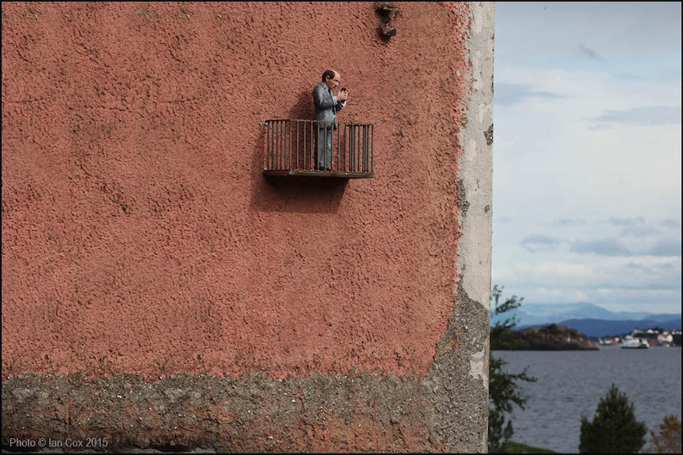 Street Art by Isaac Cordal - At Nuart Festival 2015
