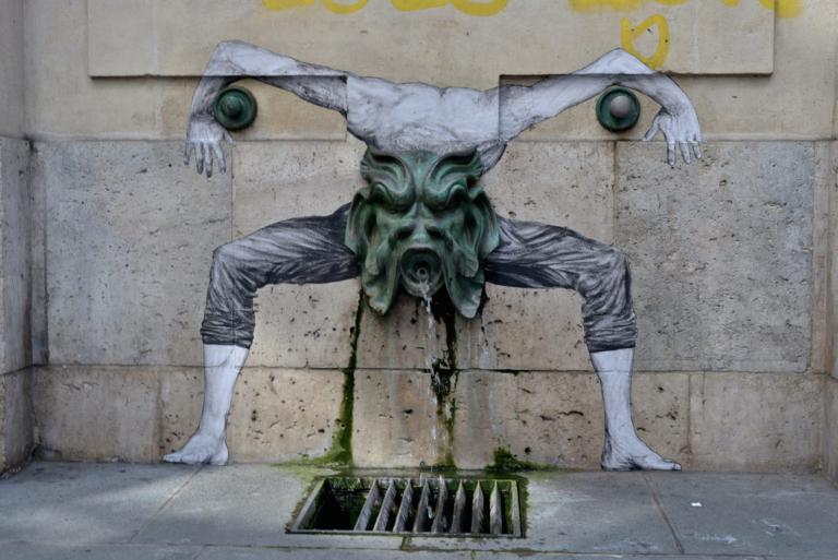 Street Art by Levalet in Paris, France