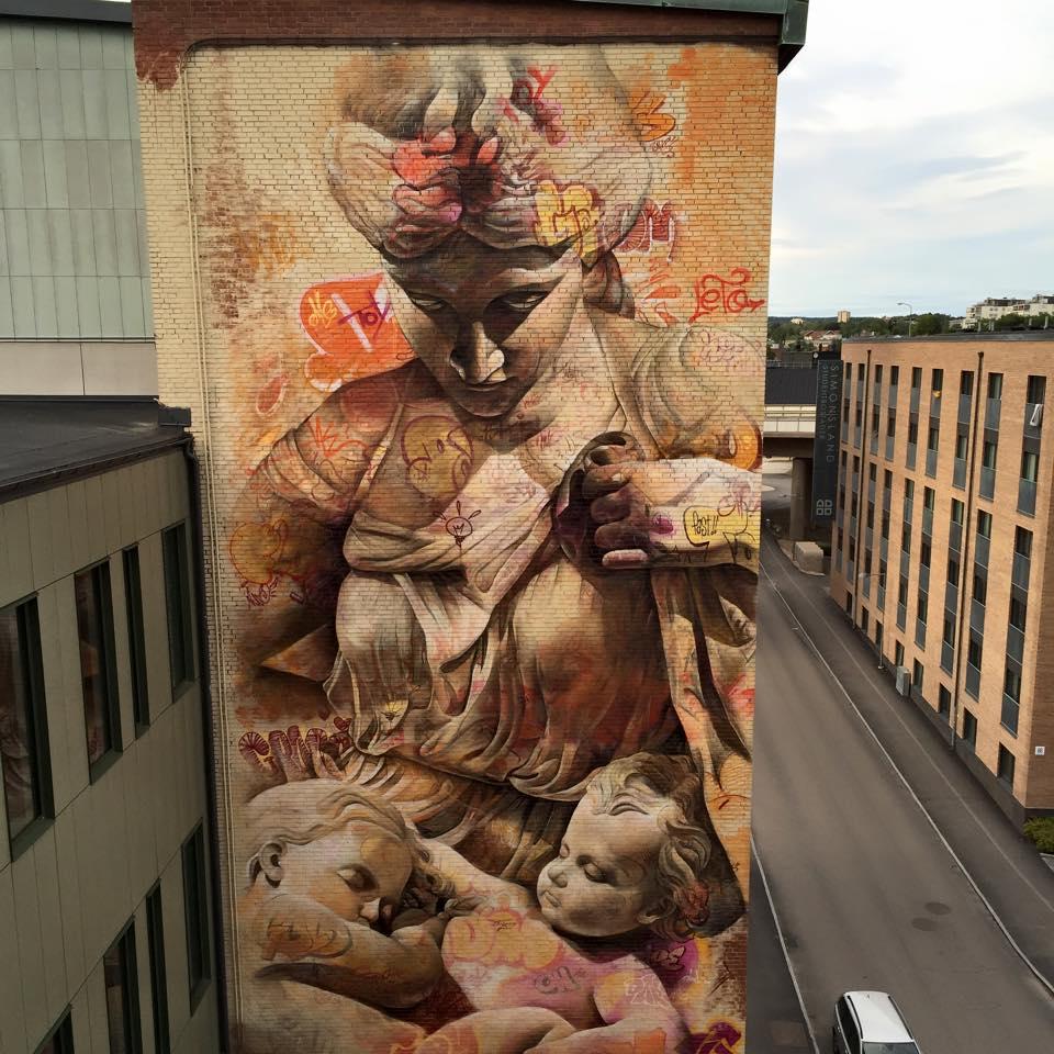 Street Art by Pichi&Avo at No Limit Borås in Borås, Sweden
