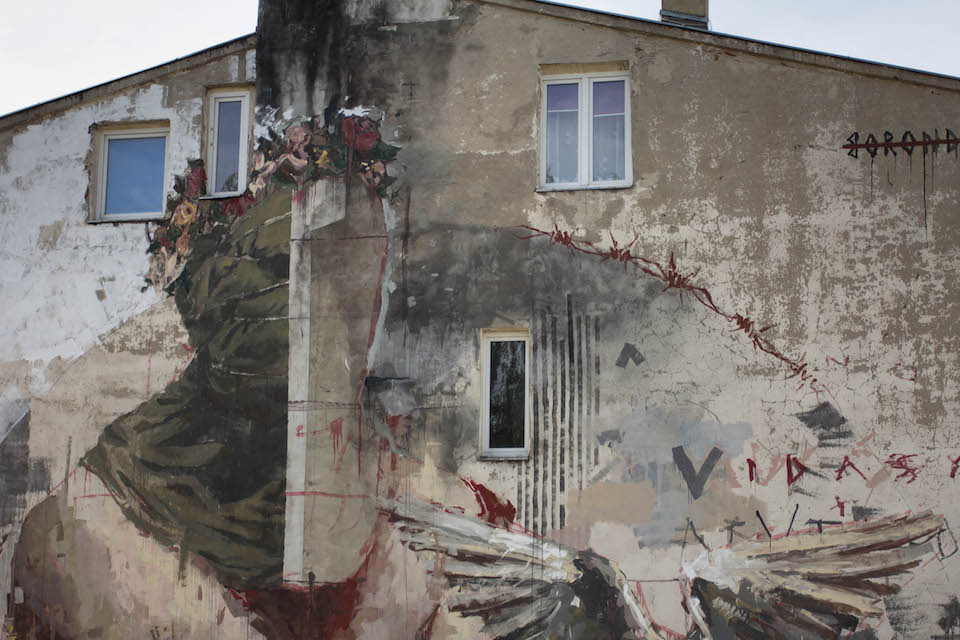 Mural by Borondo in Lodz, Poland 2