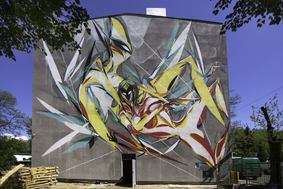 Street Art by SHIDA in Lodz, Poland