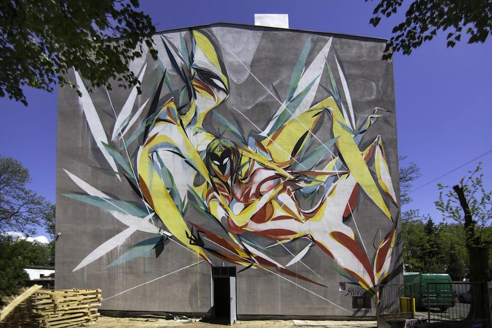 Street Art by SHIDA in Lodz, Poland 1