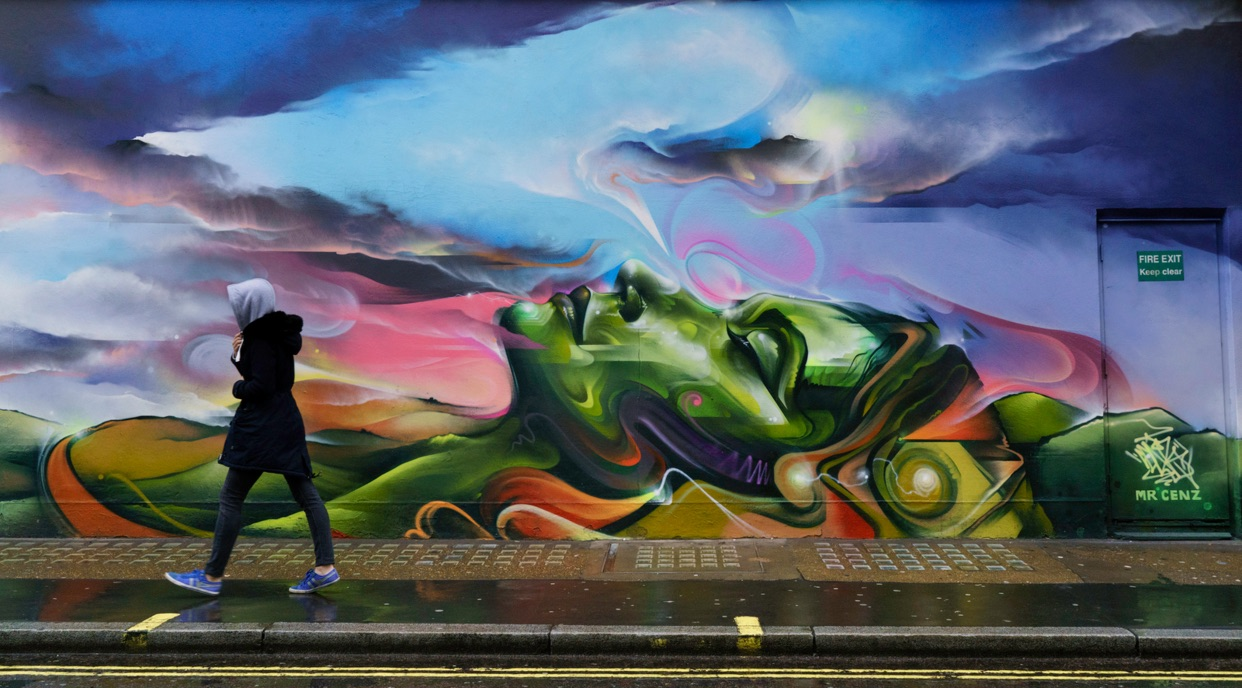 Street Art by Mr Cenz - In London, England