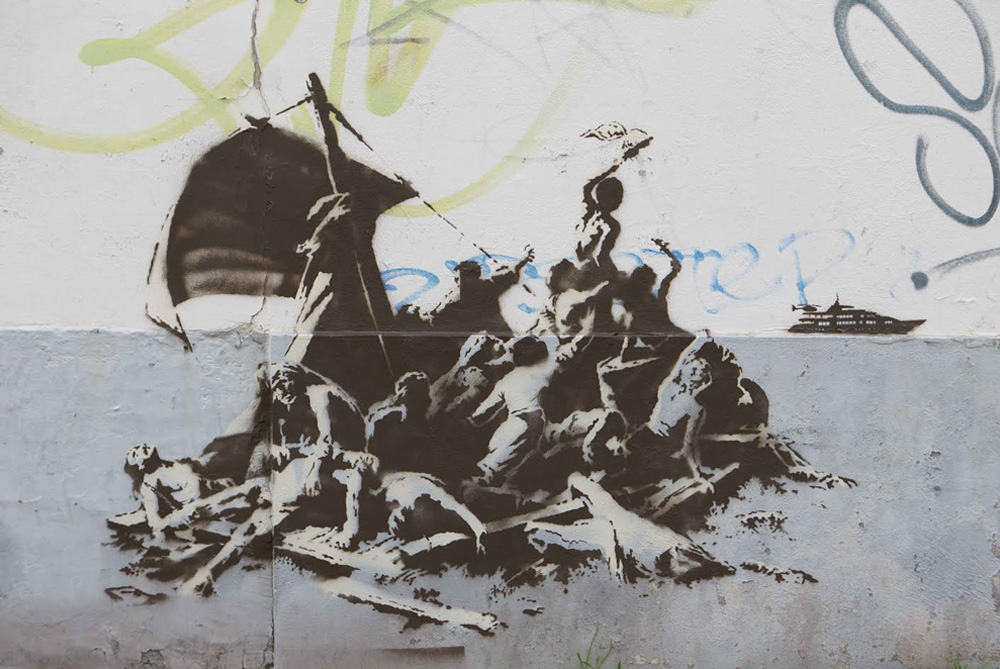 Street Art by Banksy - Syria Refugees 3