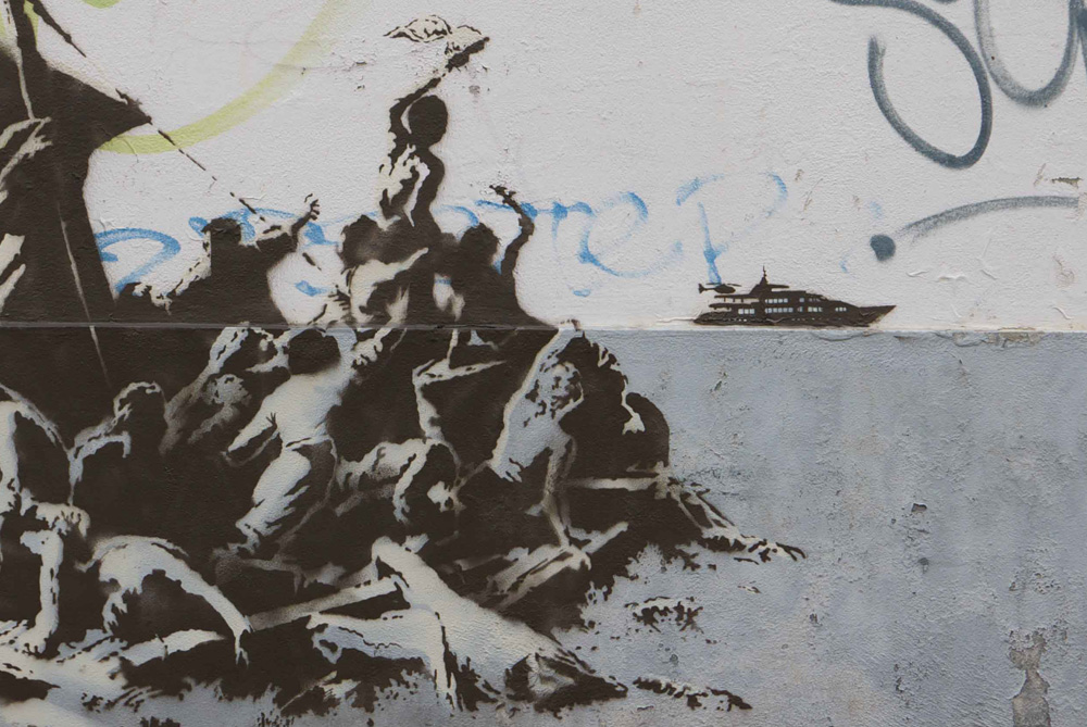 Street Art by Banksy - Syria Refugees 4
