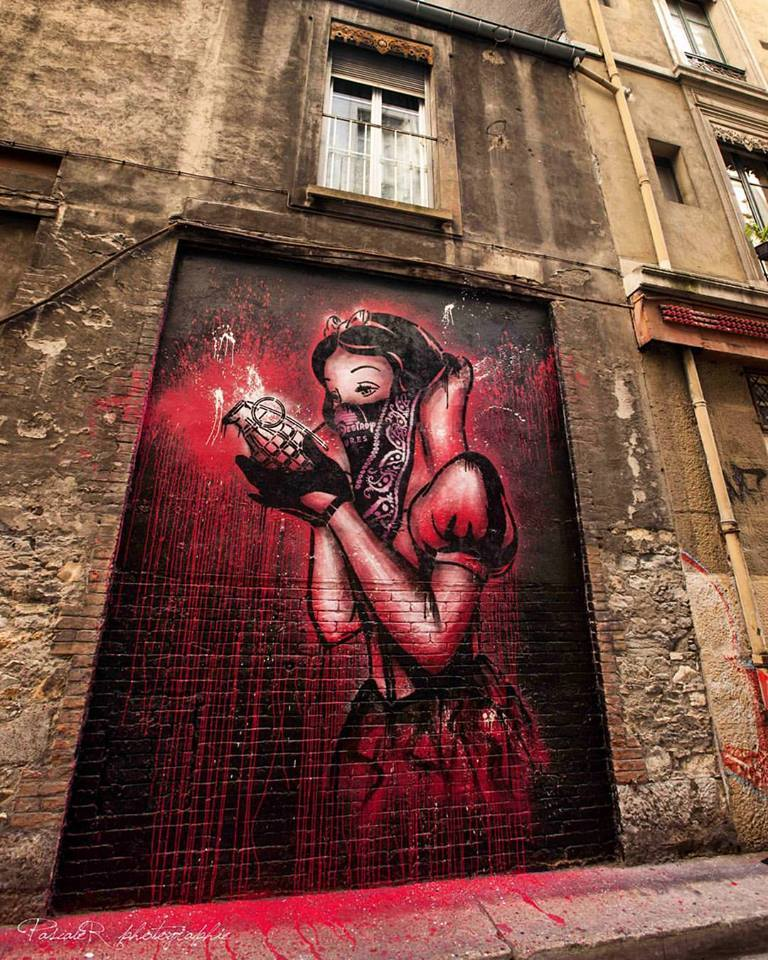 Street Art by Goin in Grenoble, France