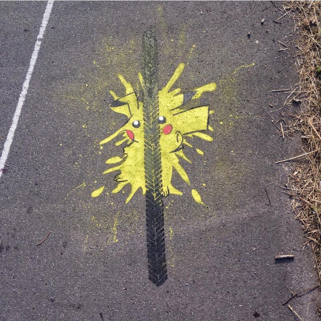 Street Art by Nme - Pokemon Go Pikachu