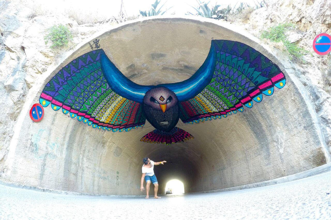 Street Art by SPAIK in Ibiza Spain 1