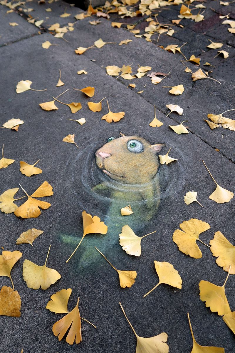 By David Zinn - In Ann Arbor, Michigan, USA