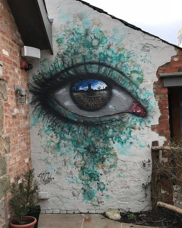 Street Art by My Dog Sighs - In Eccleston, England