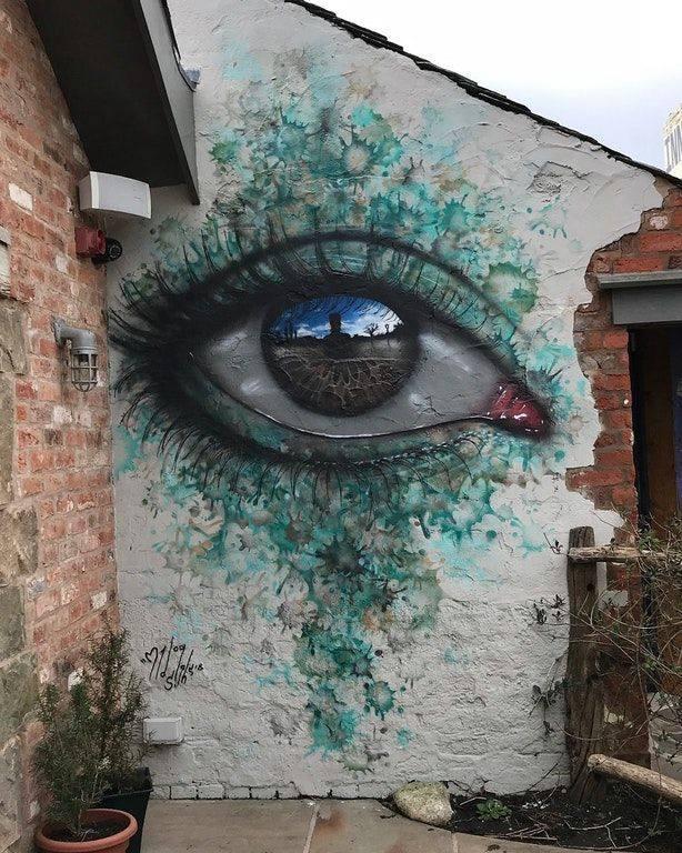 Street Art by My Dog Sighs – In Eccleston, England