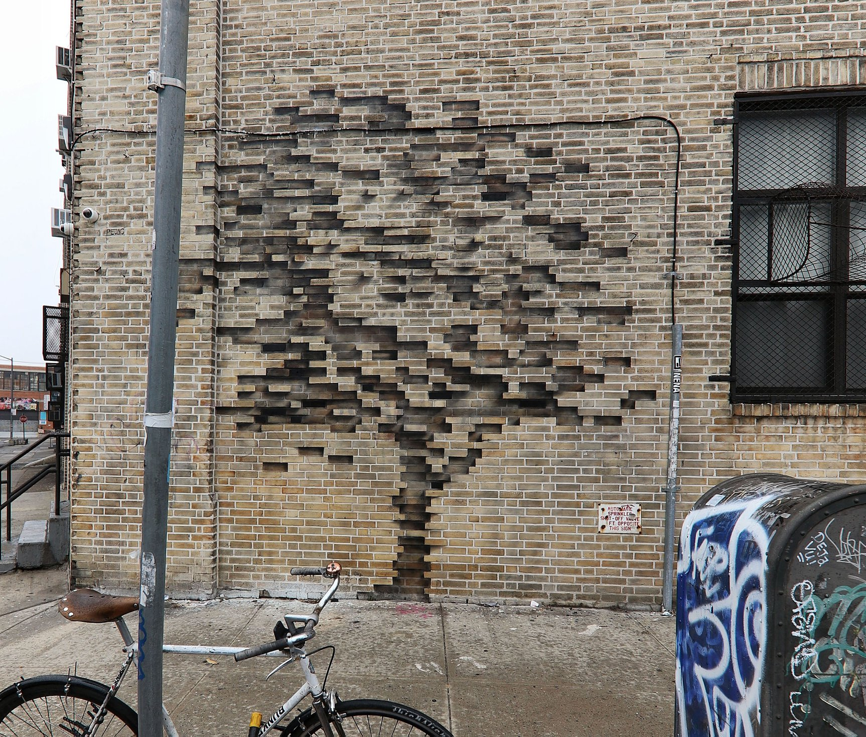 Street Art by Pejac - In Brooklyn, New York, USA