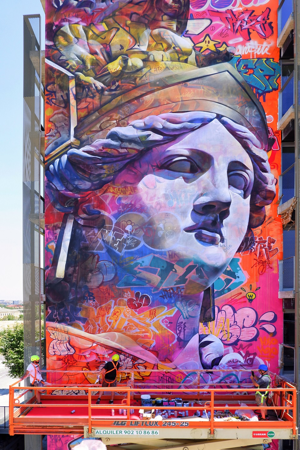 Mural by PichiAvo - In Barcelona, Spain