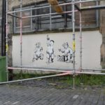 World Leaders, trump, Kim and borris, Street Art in Glasgow Scotland 2