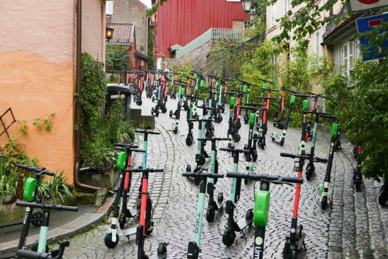 E-scooter takeover by ad-busters Subvertising Norway