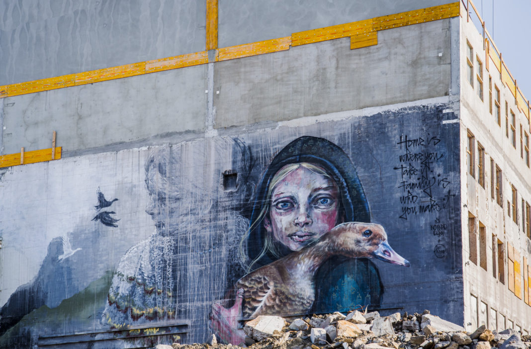 Street Art by Herakut in Reykjavik, Iceland