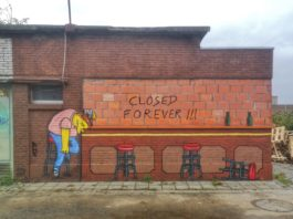 Closed forever - Street Art by Oakoak in at Estival in Gent, Belgium