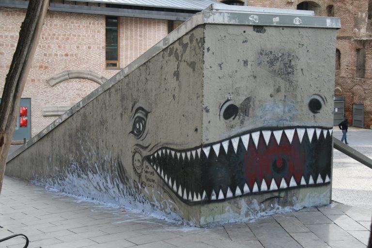 5 Photos – Street Art by Borondo in Madrid, Spain