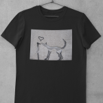 mockup of street art shirt love dog bird black