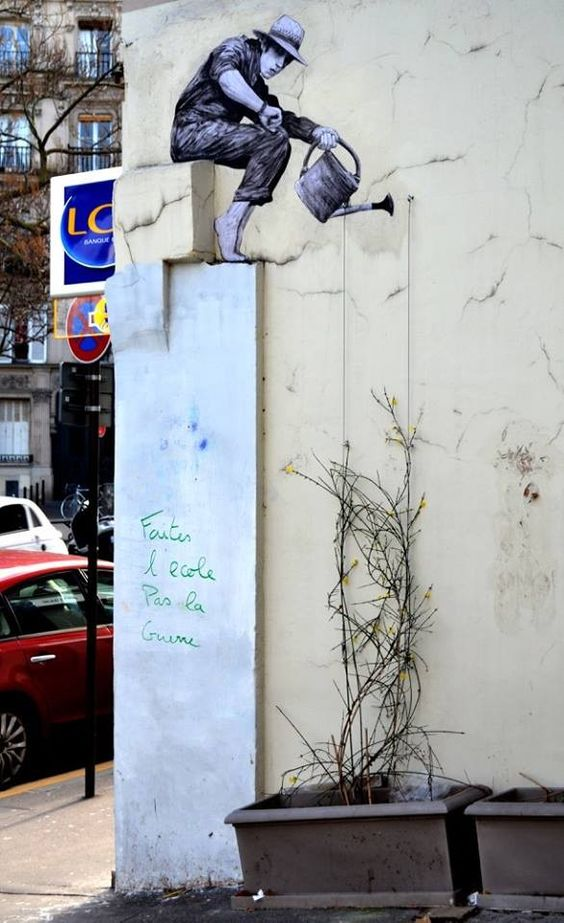 French artist Levalet camouflages quirky characters into urban landscapes