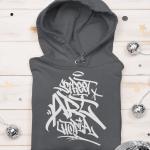 street art utopia hoodie grey