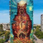 Forest-guardian-mural-street-art-by-Bozik-in-Miass-Russia-1