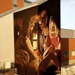 Georges-de-la-Tour.-S.-Sebastiano-Mural-by-Andrea-Ravo-Mattoni-at-Ospedale-di-circolo-e-fondazione-macchi-Varese-Italy-1