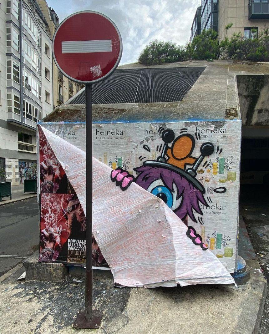 #streetart #art #paris #gouzou #jaceticot #urbanart #photooftheday #picoftheday #streetarteverywhere #streetartparis
