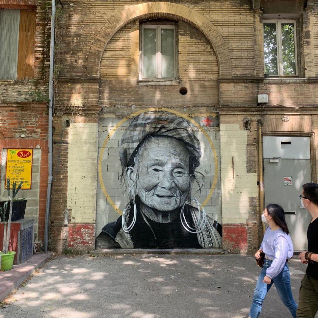 #swed #swedoner #mkc #132 #epdm #streetart# #streetarteverywhere #arteurbano #artederua #wallpainting #art #muralismo #street #vietnam #hmong #face #bnw #portrait #realist #realisme #streetarttoulouse