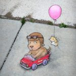Val-almost-immediately-regretted-choosing-the-deluxe-realistic-engine-sounds-option-chalk-art-by-David-Zinn